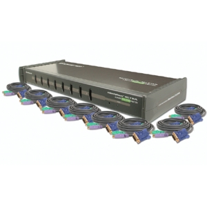 Iogear 8-Port KVM Switch Kit