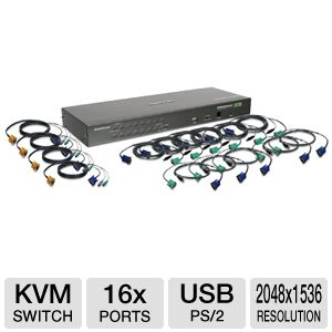 Iogear GCS1716KIT 16-Port USB PS/2 KVM Switch