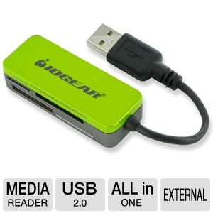 Iogear GFR209 12-in-1 Pocket Card Reader/Writer