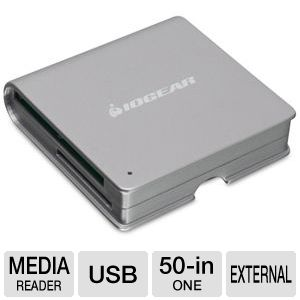 Iogear GFR210 50-in-1 Portable Card Reader