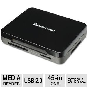Iogear GUH287 3-Port USB 2.0 Hub and 45-in-1 Card