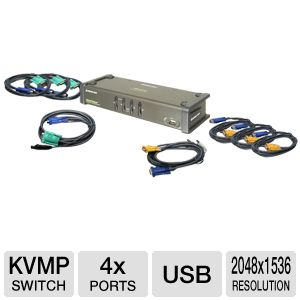 Iogear 4-Port KWM Switch