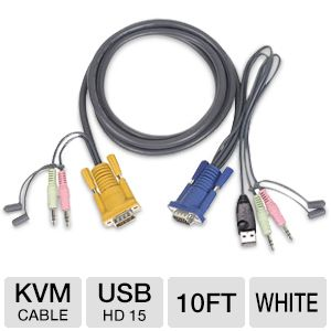 Iogear 10-Foot USB KVM Cable