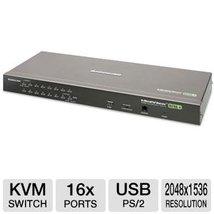 Iogear GCS1716 16-Port USB PS/2 Combo KVM Switch