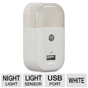 Audiovox USBNL1R Night Light USB Charger