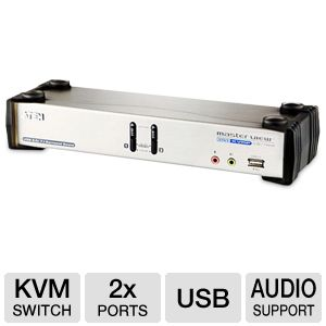 ATEN CS1782 2-Port USB 2.0 DVI KVMP Switch
