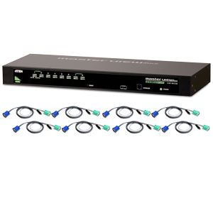 Aten CS1308KIT 8-Port USB/PS2 KVM Switch w/ 8 USB