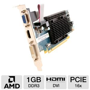 Sapphire Radeon HD 5450 1GB DDR3 Video Card