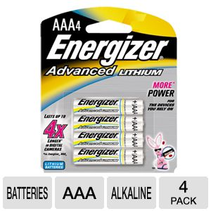 Energizer EA92BP4 AAA Advanced Lithium Battery