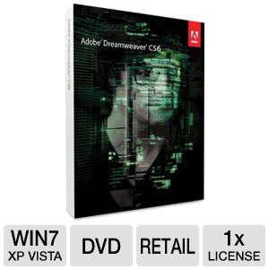 Adobe Dreamweaver CS6 Web Design Software 