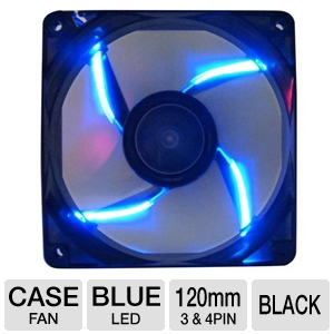 XION Alphawing Series 120mm Blue LED Case Fan