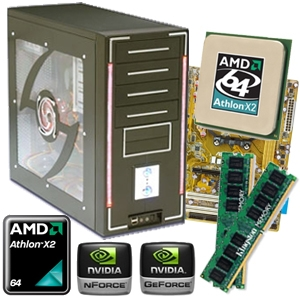Asus GeForce 6100 Socket AM2 Barebone Kit