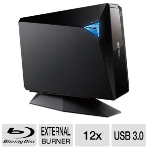 Asus External USB 3.0 12x Blu-Ray Burner