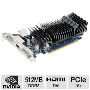 Asus GeForce 8400 GS Silent 512MB DDR3 Video Card