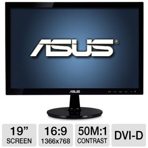 "ASUS VS197T-P 19"" Class 1366x768 LED Monitor"