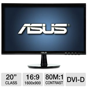"ASUS 20"" Class 1600x900 LED Monitor REFURB"