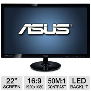 "ASUS VS229H-P 22""  LED Monitor"