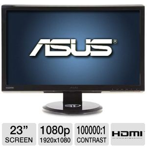 "ASUS VG236H 23"" 1080P HD 2ms 3D Monitor REFURB"