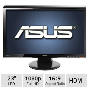 "ASUS 23"" Class Widescreen LED Backlit Monitor"