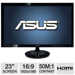 "ASUS 23"" Wide 1080p IPS LED Monitor, DVI, HDMI"