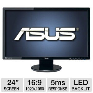 "ASUS VE248Q 24"" LED 1920x1080 2ms HDMI Monitor"