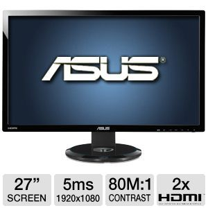 Asus 27&quot; Class 1920x1080 IPS LED 3D Monitor