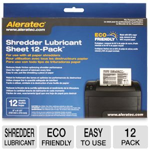 Aleratec Shredder Lubricant Sheets
