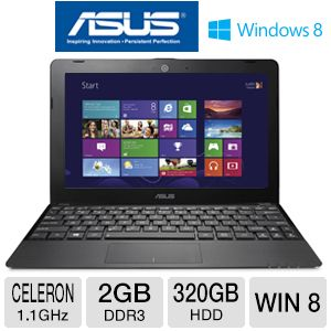 "ASUS 1015E 10.1"" Celeron 320GB HDD Notebook"