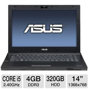 "ASUS PRO 14"" Core i5 320GB HDD Laptop"