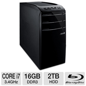 ASUS Core i7 2TB HDD Desktop PC
