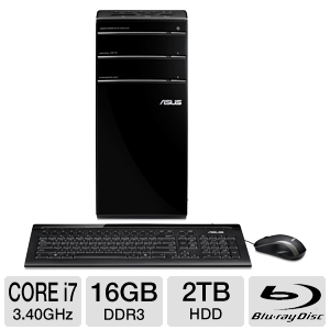 ASUS Essentio 3rd Gen i7 16GB 2TB Desktop PC