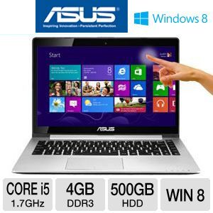 ASUS Vivobook S400 14.1&quot; Core i5 4GB/500GB+24GB 