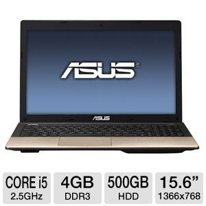 "ASUS 15.6"" Core i5 500GB HDD Laptop"