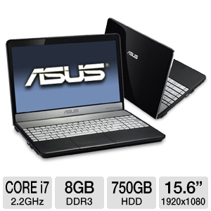 "ASUS N55SF-EH71 15.6"" Black Notebook"