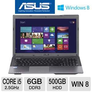 "ASUS A55A-TH51 15.6"" Core i5 500GB HDD Laptop"