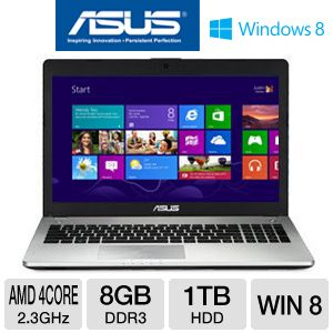"ASUS N56DP 15.6"" AMD Quad-Core 1TB HDD Laptop"