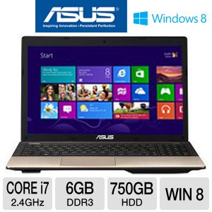 ASUS 15.6&quot; Core i7 750GB HDD Notebook