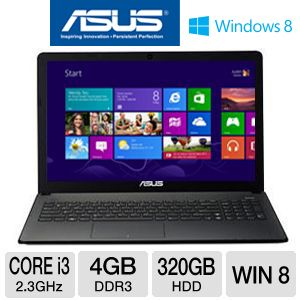 "ASUS 15.6"" Core i3 320GB HDD Notebook PC"