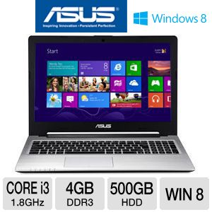 "ASUS S56 15.6"" Core i3 500GB + 24GB SSD Ultrabook"