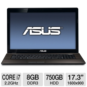 "ASUS 17.3"" Core i7 8GB/750GB GT610M Laptop"