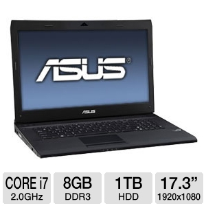 Asus G73SW A1 17.3 Inch Full HD-8GB 1TB-HD