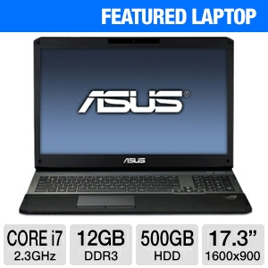 ASUS G75 17.3&quot; i7 12GB/500GB/GTX 660M Win7 NB