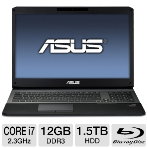 "ASUS G75 17.3"" i7 12GB/1.5TB/GTX 660M Win7 NB"
