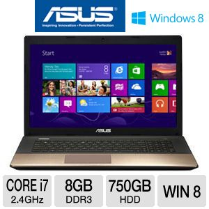"ASUS A75VJ-TH71 17.3"" Core i7 750GB HDD Laptop"