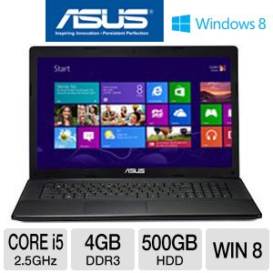 "ASUS F75A-EH51 17.3"" Core i5 500GB HDD Laptop"