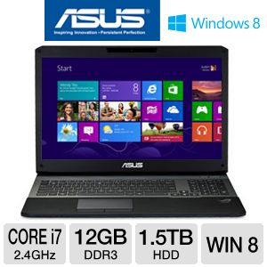 ASUS G75 17.3&quot; i7 12GB/1.5TB/GTX 660M Win8 NB