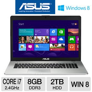 "ASUS N76VJ 17.3"" Core i7 2TB HDD Laptop"