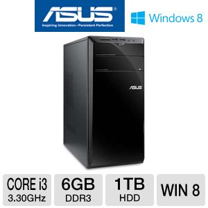 Asus Core i3 1TB HDD 6GB RAM Desktop PC