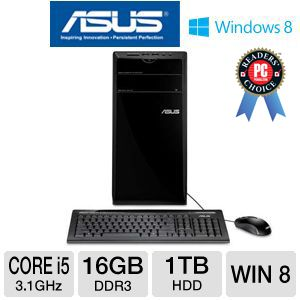 Asus Essentio Core i5 1TB HDD 16GB DDR3 Desktop PC
