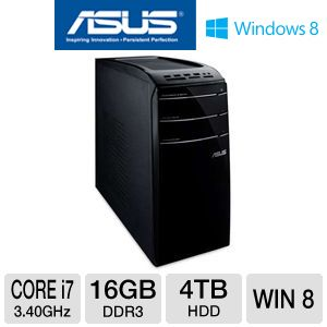 Asus CM Series Core i7 4TB HDD 16GB RAM Desktop PC
